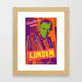Greetings From London Framed Art Print