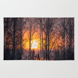 Sunset Winter Landscape #decor #society6 #homedecor #buyart Rug