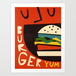 Yum Burger Art Print