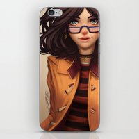 charmaine olivia iPhone & iPod Skins featuring Olivia by Rafa ArSen