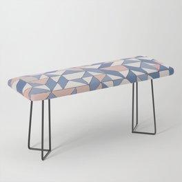 Shifting geometric pattern Bench