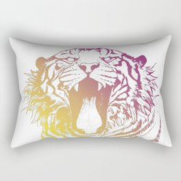 bicolor tiger Rectangular Pillow