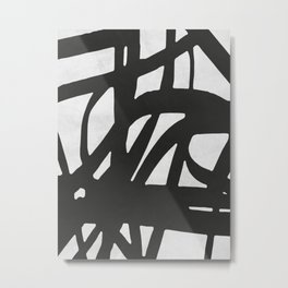Black Expressionism I Metal Print