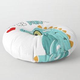 Love Dino Mite Funny Sweet Cute Pun Baby Girl Gift Floor Pillow