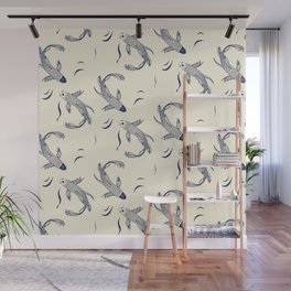 Japanese Koi Fish Pattern Wall Mural