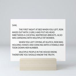 Anonymous letter Mini Art Print