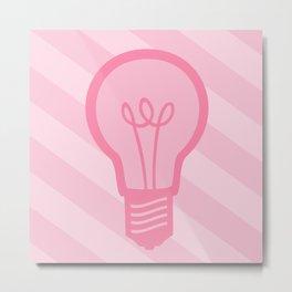 Pastel Pink Light Bulb Metal Print