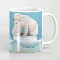 ice Mugs featuring polar ice cream cap 02 by Vin Zzep