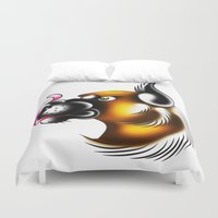 german Duvet Covers featuring German Shepherd by samlbrown