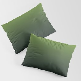 Ombre | Color Gradients | Gradient | Two Tone | Lime Green | Charcoal Grey | Pillow Sham