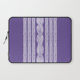 Cable Stripe Violet Laptop Sleeve