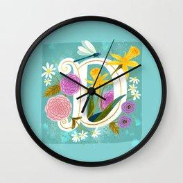 Artsy Alphabet: D Wall Clock