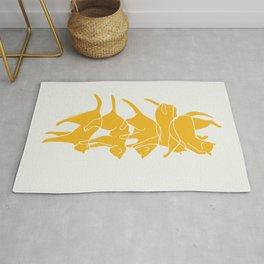 Yellow cat Rug