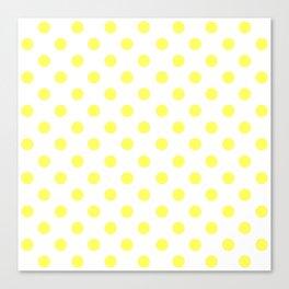 Polka Dots (Yellow & White Pattern) Canvas Print