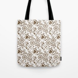 Mehndi or Henna Florals Tote Bag
