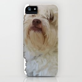 Grumpy Terrier Dog Face iPhone Case