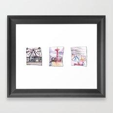 Coney Island Trio  Framed Art Print