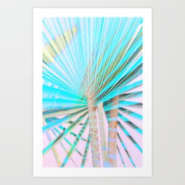 nº1 neon light palms Art Print