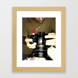 act of photography Framed Art Print