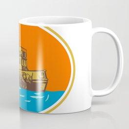 Tugboat Tug Towboat Woodcut Coffee Mug