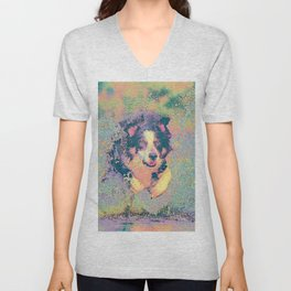 Pastel_Dog_001_by_JAMColors Unisex V-Neck
