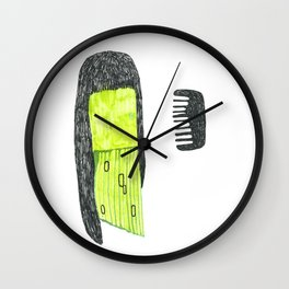who's afraid of the comb Wall Clock