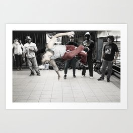 14th St & Union Sq (Jump) Art Print