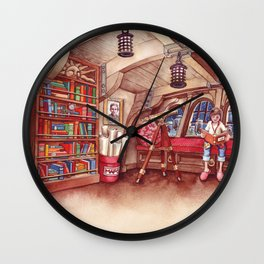 Koala and Girl Naturalists Wall Clock