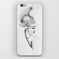 Girl & Helmet iPhone & iPod Skin