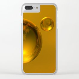 Liquid Gold Clear iPhone Case