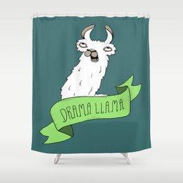 Drama Llama Shower Curtain