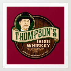 Thompson's Irish Whiskey Art Print