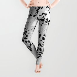 Real Terrazzo Stone Marble Concrete Mix Pattern Leggings