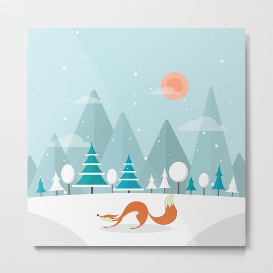 The Fox Is Back Metal Print