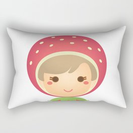 The Strawberry Gal Rectangular Pillow