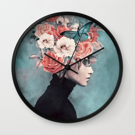 blooming 3 Wall Clock