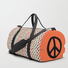 Peace Signs Hippie Beaded Curtain Duffle Bag