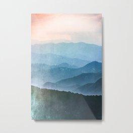 Great Smoky Mountain National Park Sunset Layers - Nature Photography Metal Print