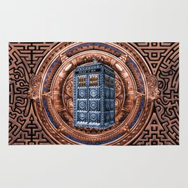 Aztec Tardis Doctor Who Full Color Pencils Sketch Rug
