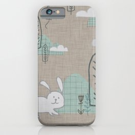 Cute Bunny woodland #nursery #homedecor iPhone Case
