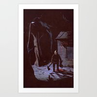 Man in the Mask Art Print