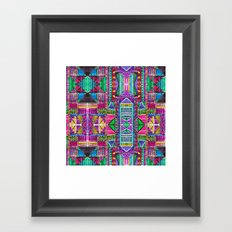 Tribal Patchwork Pink Framed Art Print