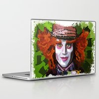 mad hatter Laptop & iPad Skins featuring Mad Hatter by grapeloverarts