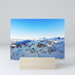 Shades of blue at the mountains Mini Art Print
