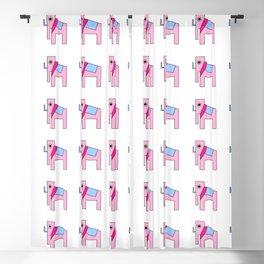 pink elephant Blackout Curtain