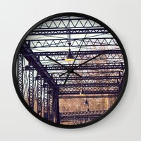 bridge Wall Clocks featuring Bridge by myhideaway