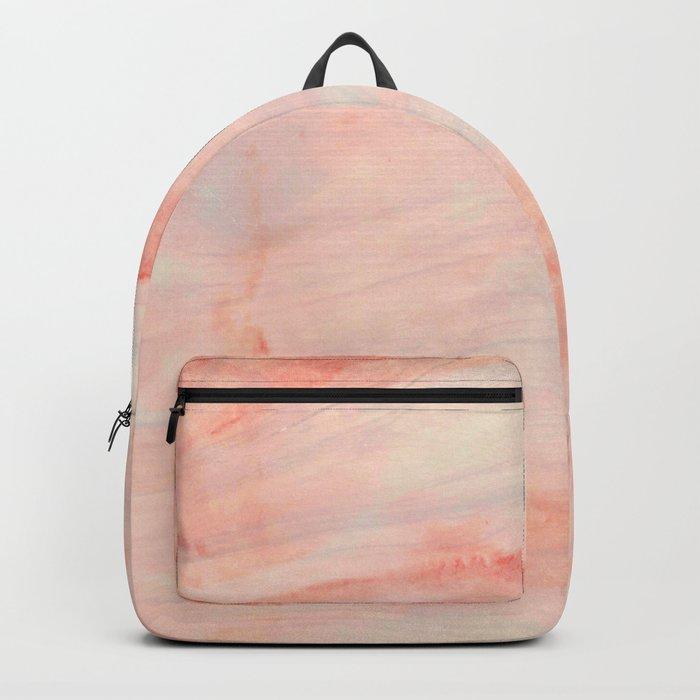 Dramaqueen - Pink Marble Poster Rucksack