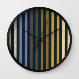 FUN STRIPES-GOLD BLUE Wall Clock