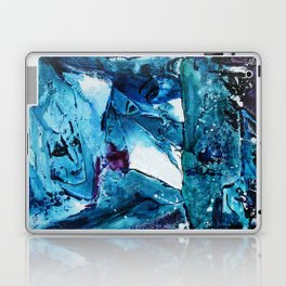 Faces in blue Laptop & iPad Skin