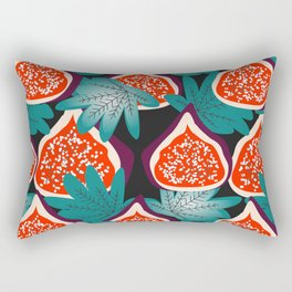 Colorful figs and leaves Rectangular Pillow
